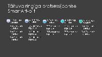 SmartArti suureneva ringiga joonis (hall ja sinine mustal taustal), laiekraan