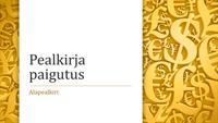 Valuutasümbolitega esitlus (laiekraan)