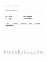 Faksi tiitelleht (tavaline)