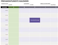 Päevakohtumiste kalender