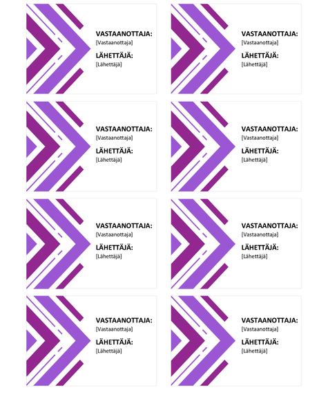 Pakettikortit (8 per sivu)