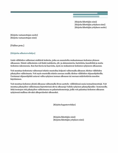 Kirje (Urbaani-teema)