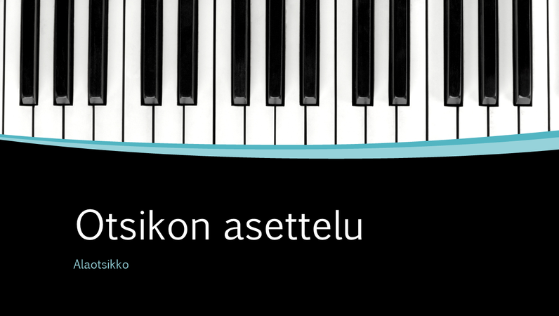 Musikaaliset kaaret -esitys (laajakuva)