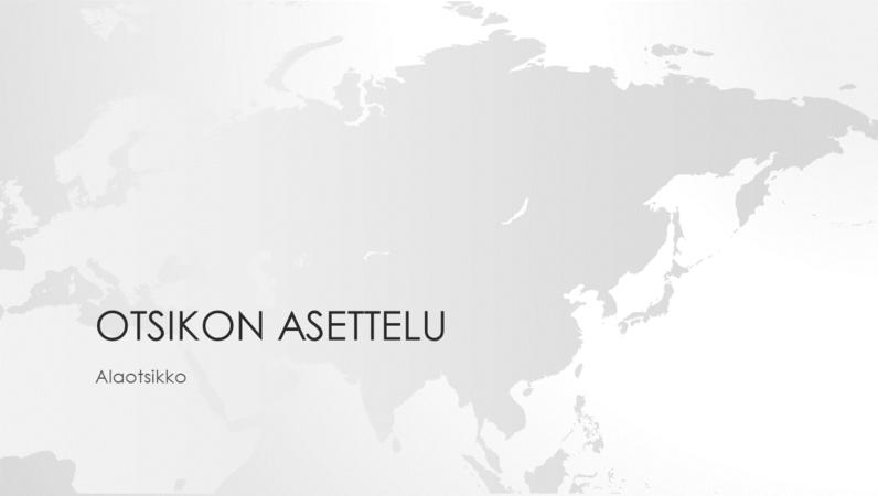 Maailmankartat-sarjan Aasian mantereen esitys (laajakuva)