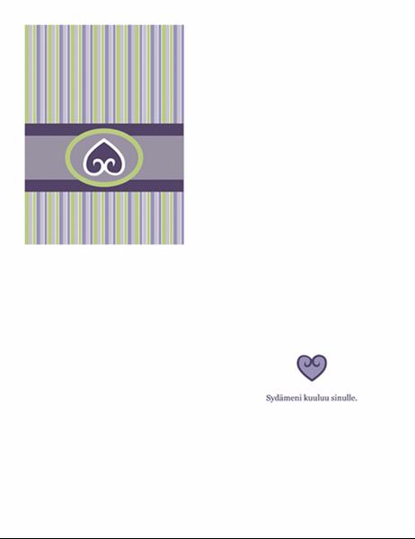 Rakkauskortti (purppura malli)