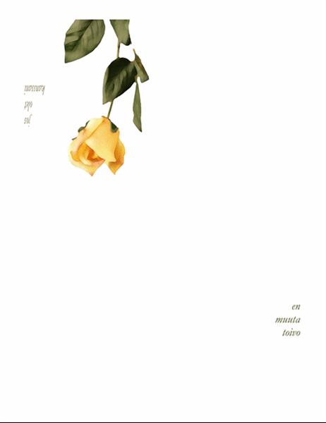 Romanttinen kortti (ruusulla)