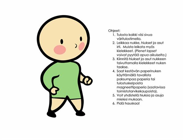 Paperinukkeja (poika, malli 3)