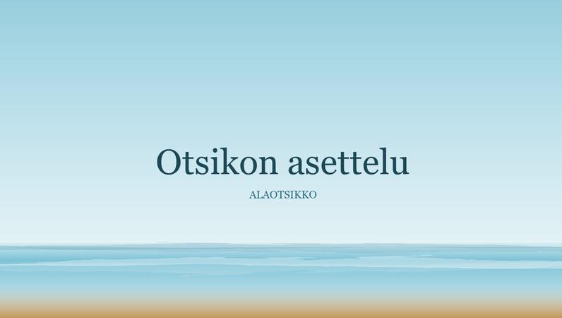 Merta esittävä maalaus -esitys (laajakuva)