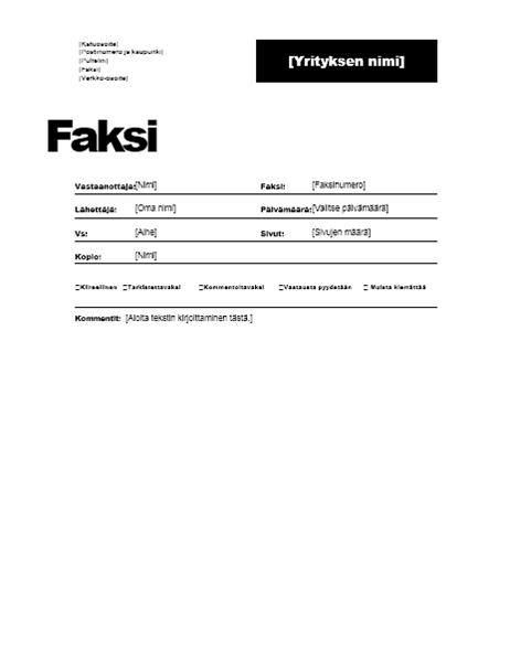 Faksin kansilehti