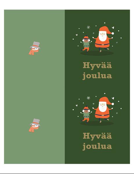 Joulukortit (Joulun henki -teema, 2 per sivu, Avery-arkille)