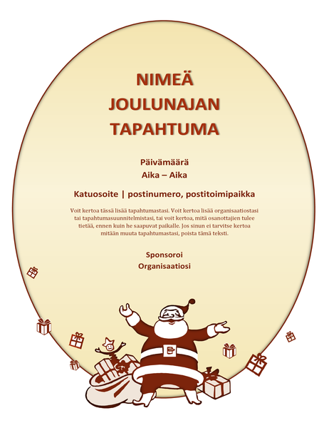 Joulunajan tapahtuman lehtinen
