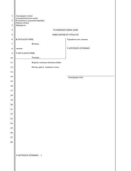 Oikeudenkäyntiasiakirja (28 riviä)