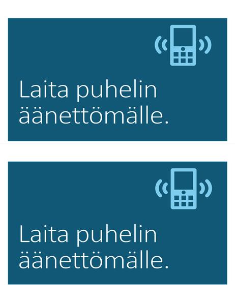 Ei matkapuhelimia -merkki (2 yhdellä sivulla)