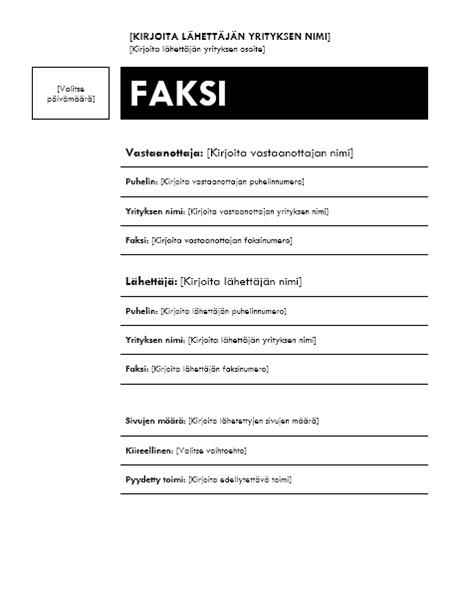 Faksin kansilehti (Mediaani)