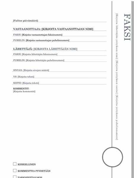 Faksin kansilehti (Erkkeri)