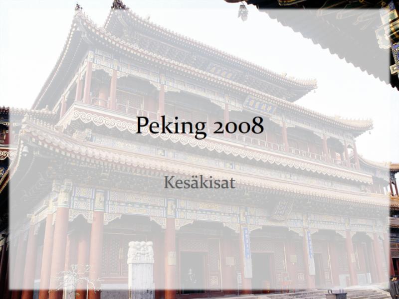 Vuoden 2008 kesäkisat -suunnittelumalli