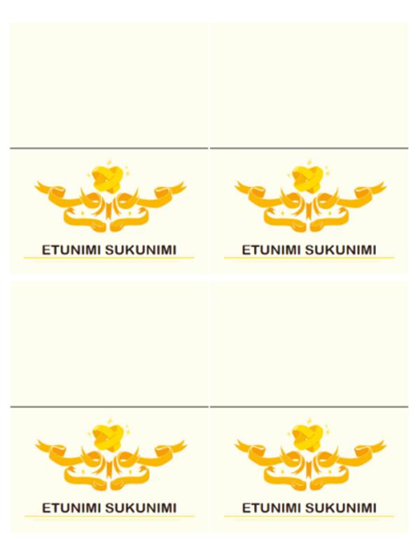 Istumapaikkakortit hääjuhliin (moderni)