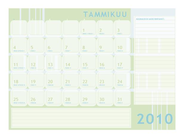 Juliaaninen kalenteri 2010 (ma - su)