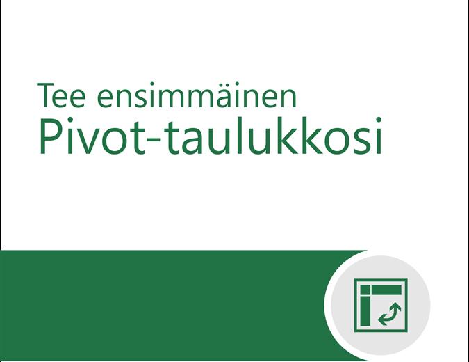 Pivot-taulukon opetusohjelma