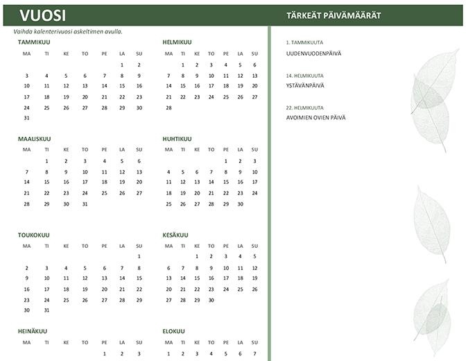 Yrityskalenteri (kaikki vuodet, su-la)