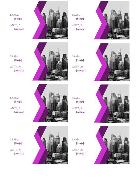 Pakettikortit (kulma, 8 per sivu)