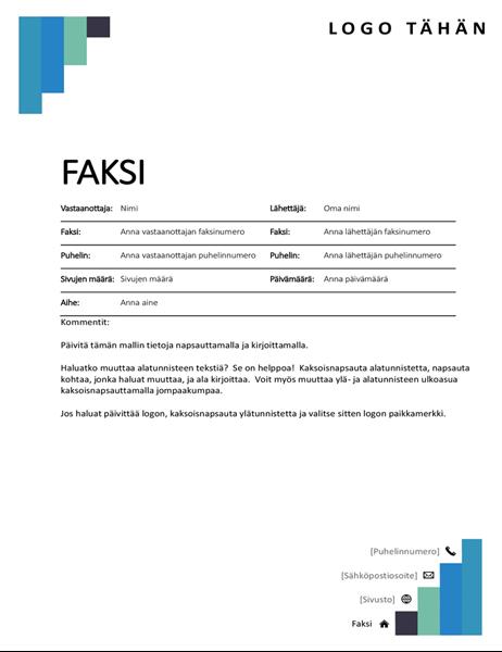 Faksin kansilehti (siniset portaat)