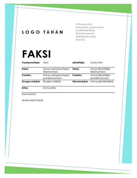 Faksin kansilehti (geometrinen)