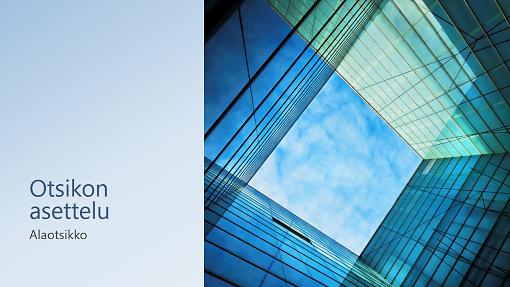 Yritys- ja markkinointiesitys, lasikuutio (laajakuva)