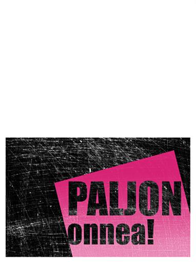 Syntymäpäiväkortti, naarmutettu tausta (pinkki, musta, taitettava)