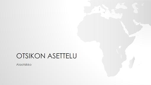 Maailman kartat, Afrikka (laajakuva)