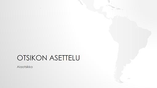 Maailman kartat, Etelä-Amerikka (laajakuva)
