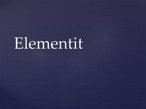 Elementit