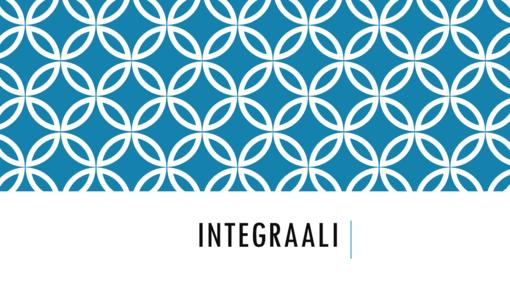 Integraali