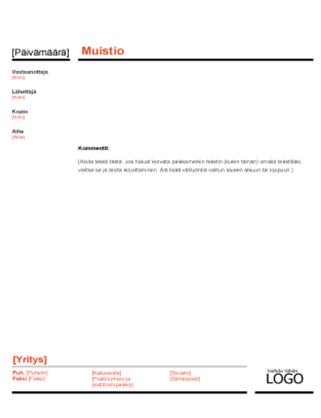 Liiketoimintamuistio (punainen ja musta)
