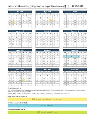 Lukuvuosikalenteri 2017–2018
