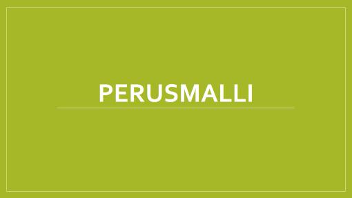 Perusmalli