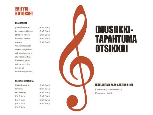 Musiikkiohjelma
