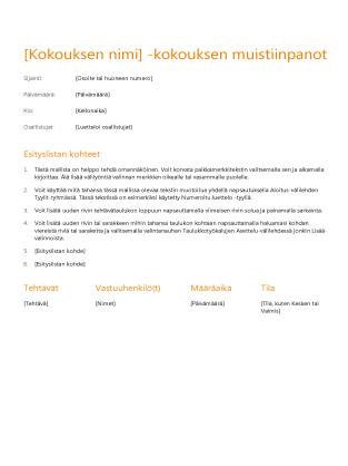 Kokouspöytäkirjat (oranssi)