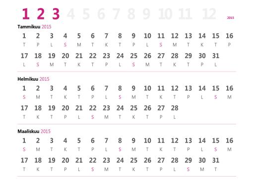 Neljännesvuosikalenteri 2015
