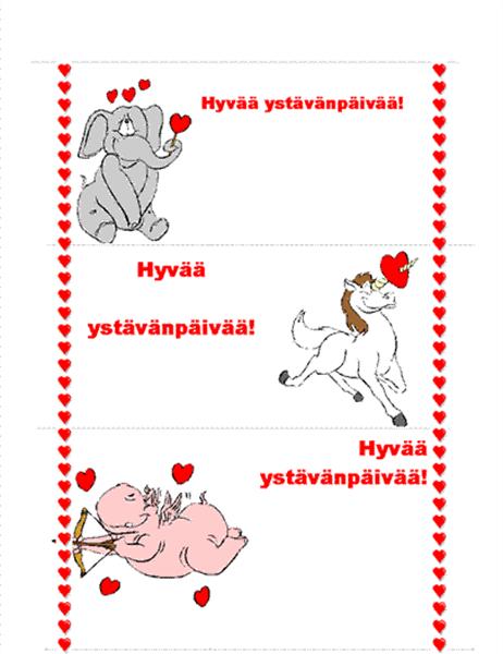 Ystävänpäiväkortti (3/sivu)