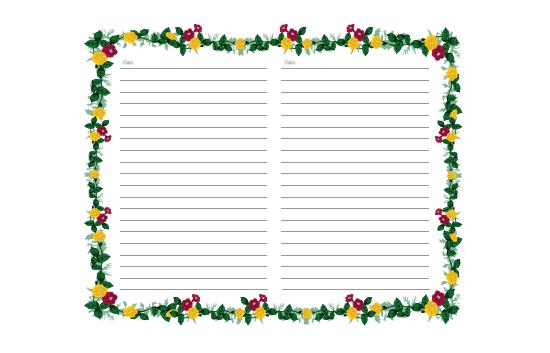 Päiväkirjan sivut (kukalliset)