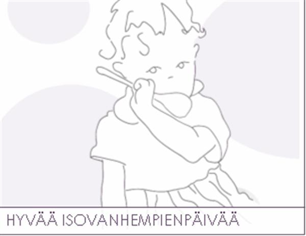 Isovanhempien päivän kortti (isoäidille)