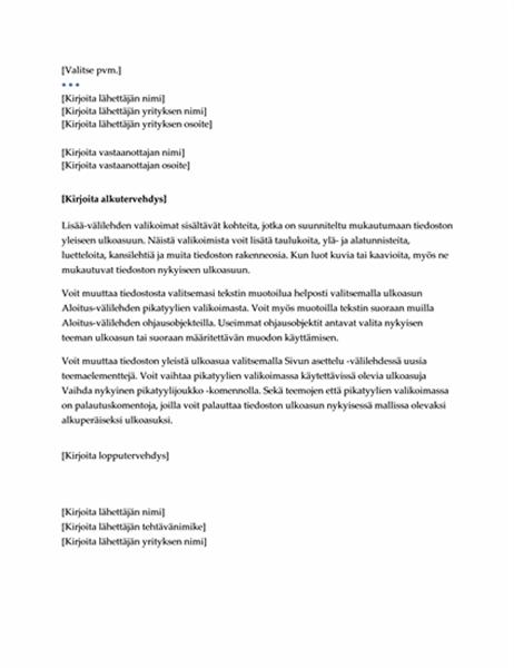 Kirje (Johto-rakenne)