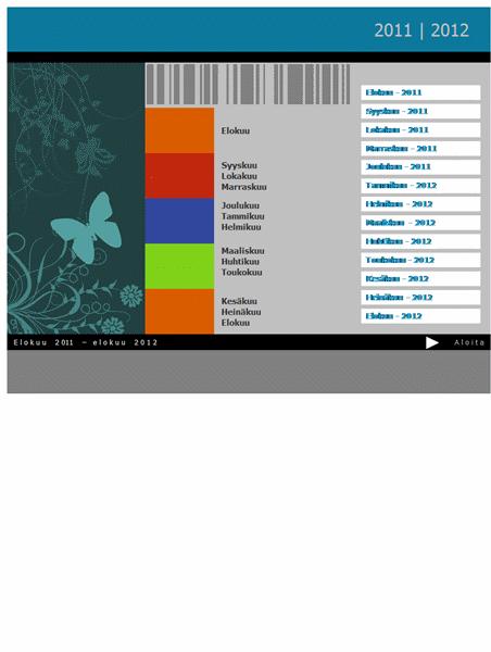 Lukuvuosikalenteri 2011–2012 (ma–su)