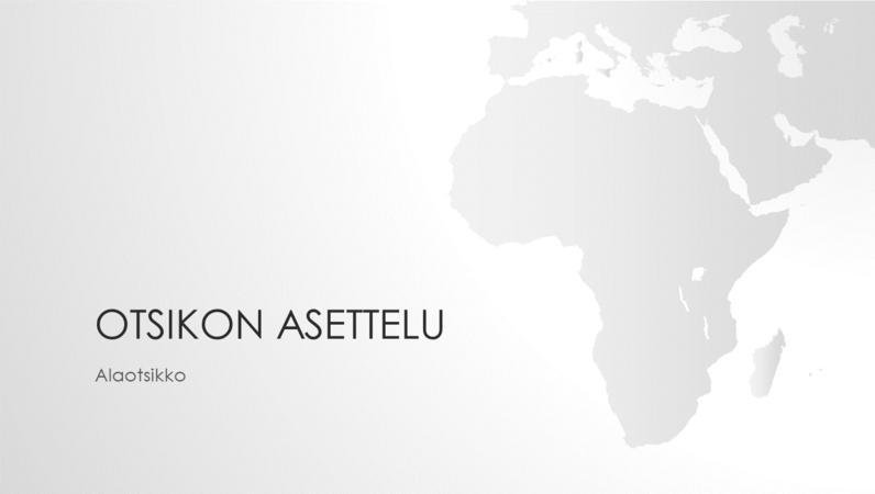 Maailman kartat, Afrikan manner (laajakuva)