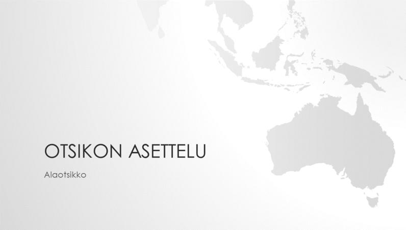 Maailmankartat-sarjan Australian mantereen esitys (laajakuva)