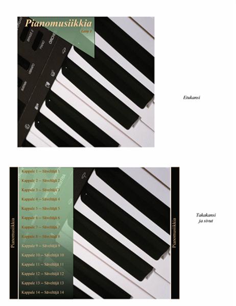 CD-levyn kansilehdet (pianomusiikkia-kuvio)