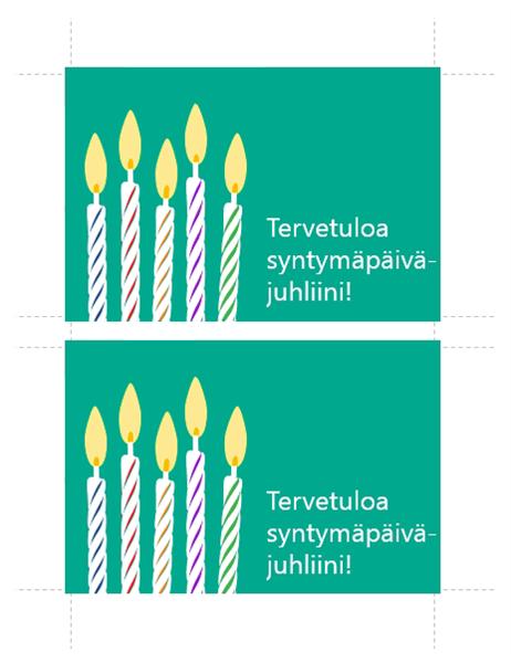 Postikortti-syntymäpäiväkutsu