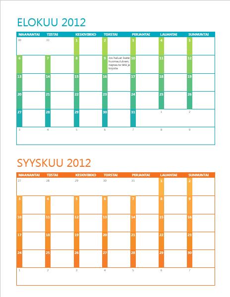 Lukuvuosikalenteri (ma-su)