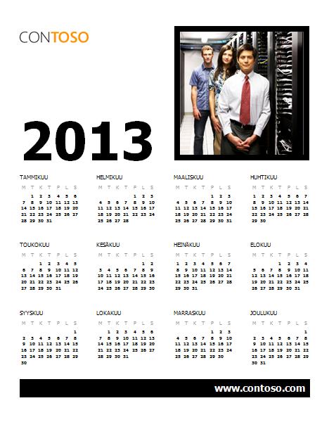 Vuoden 2013 yrityskalenteri (ma-su)
